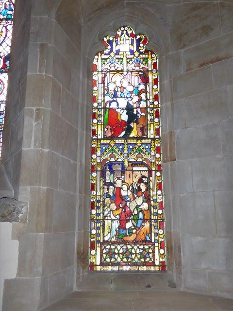 St Bartholomew, Burwash: stained glass window (C)
