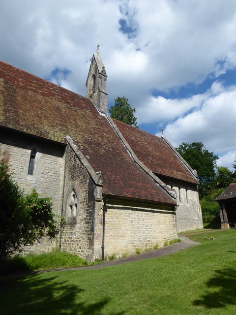 St. John the Baptist, Tidebrook: side view