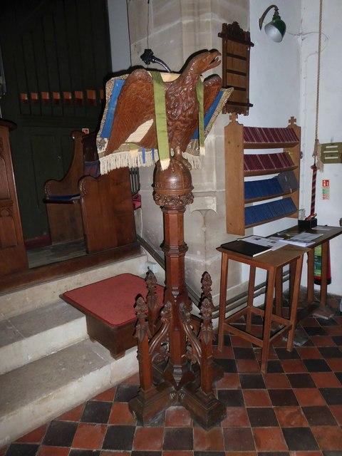 St. John the Baptist, Tidebrook: lectern