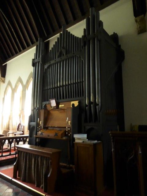 St. John the Baptist, Tidebrook: organ
