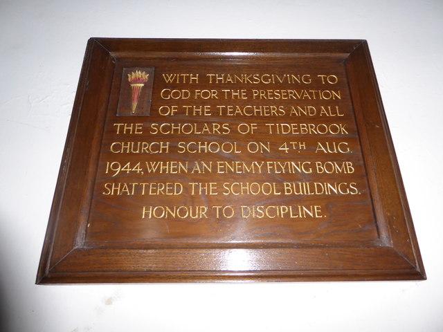 St. John the Baptist, Tidebrook: thanksgiving