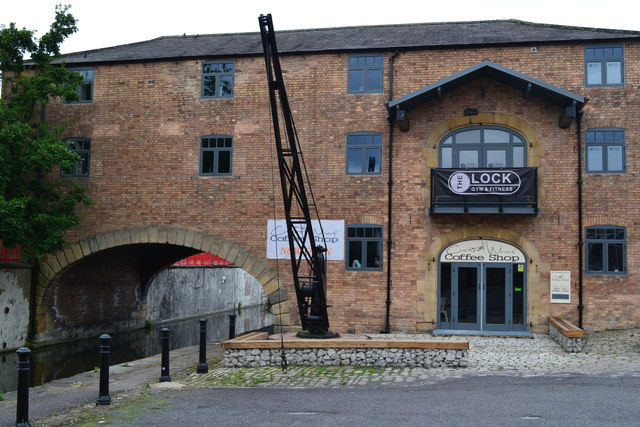 Canal wharf and arched warehouse