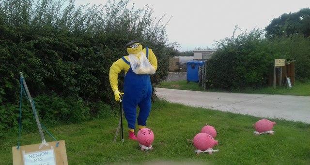 Minion pig farmer at Anderby village festival