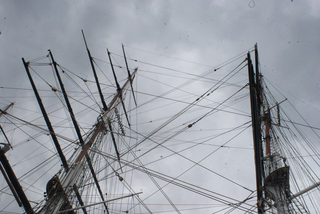 Looking up at the masts of the Cutty Sark  #2