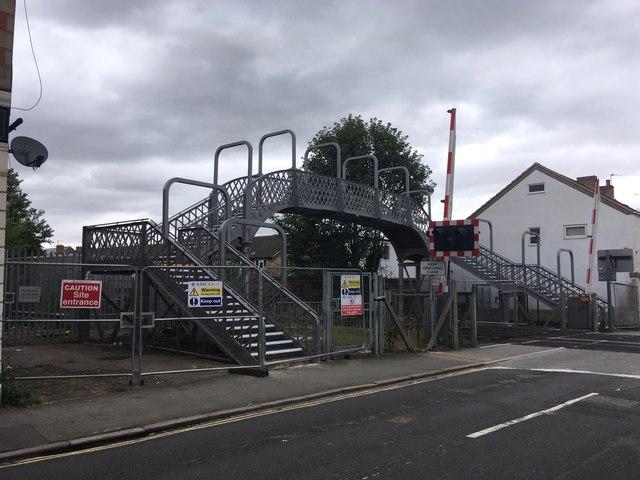 The Station Road foot bridge returns