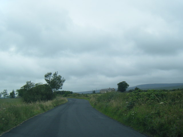 Lane with Top of Emmetts Farm beyond