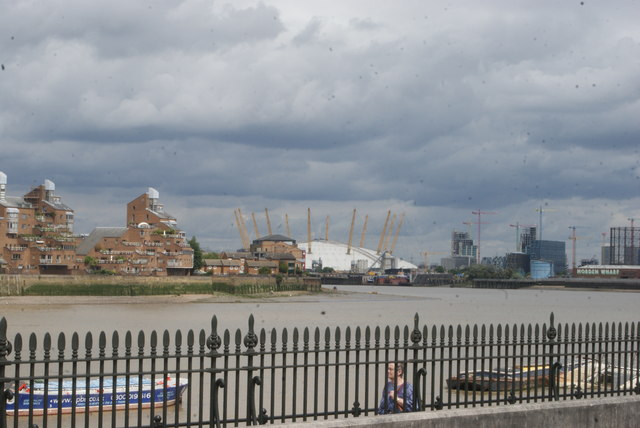 View of the O2 from Greenwich Riverside