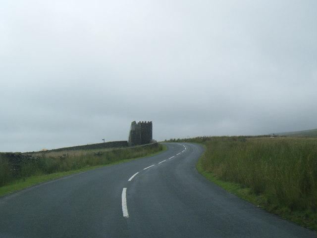 Jubilee Tower from lane on Abbeystead Fell