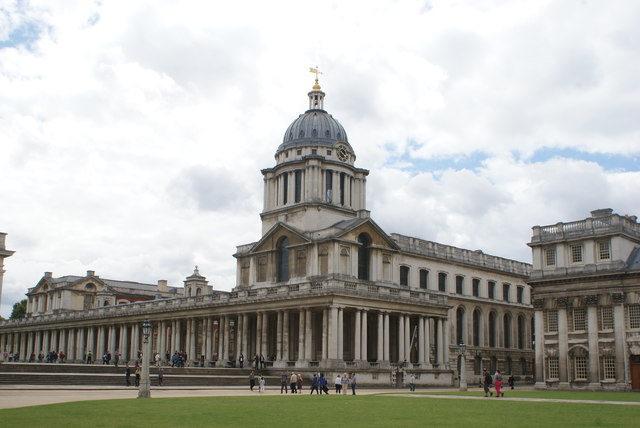 View of the Painted Hall from the grounds of the University of Greenwich