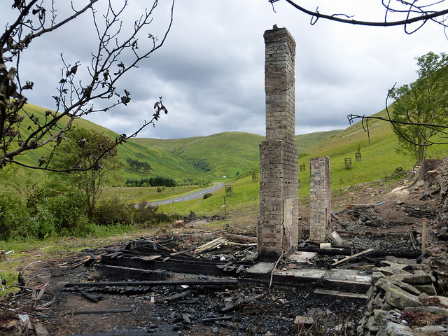The remains of Quaveburn Cottage