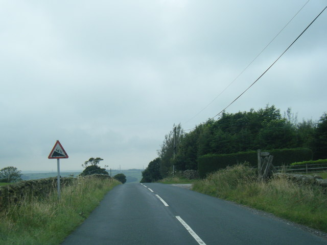 Road approaching Quernmore Brow