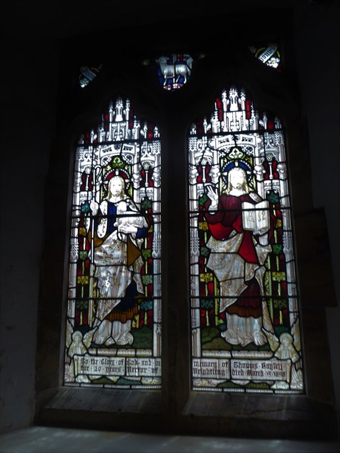 St Thomas à Becket, Brightling: stained glas window (B)