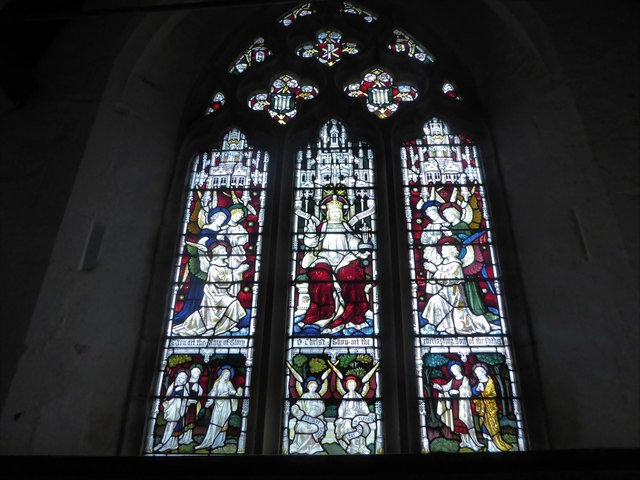 St Thomas à Becket, Brightling: stained glas window (C)