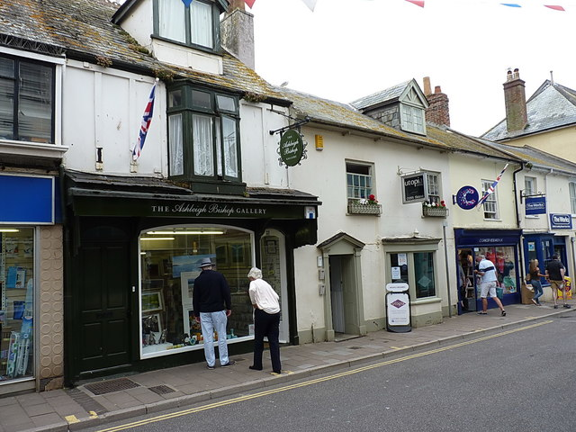 Shops on Fore Street, Sidmouth