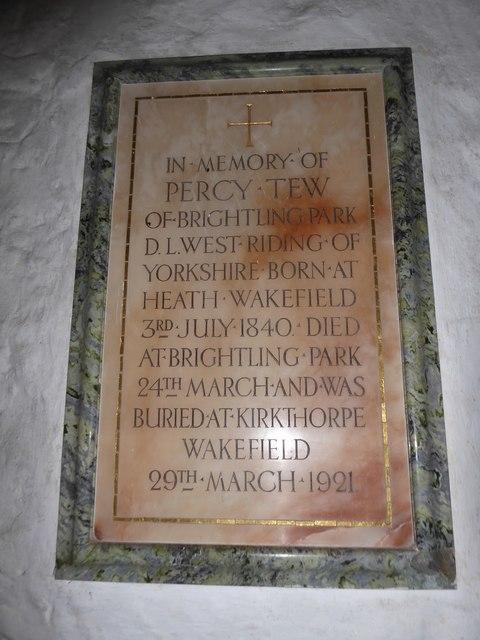 St Thomas à Becket, Brightling: memorial (1)