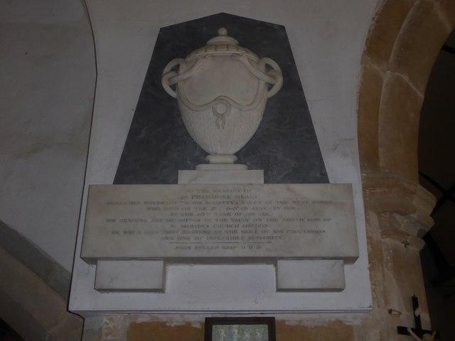 St Thomas à Becket, Brightling: memorial (2)