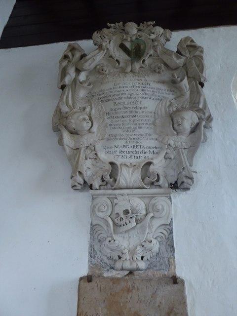 St Thomas à Becket, Brightling: memorial (6)