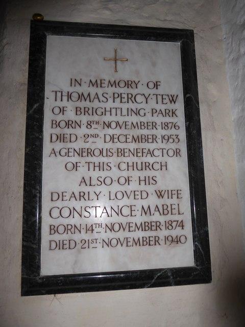 St Thomas à Becket, Brightling: memorial (8)
