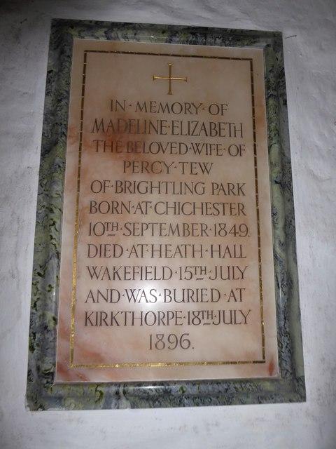 St Thomas à Becket, Brightling: memorial (9)