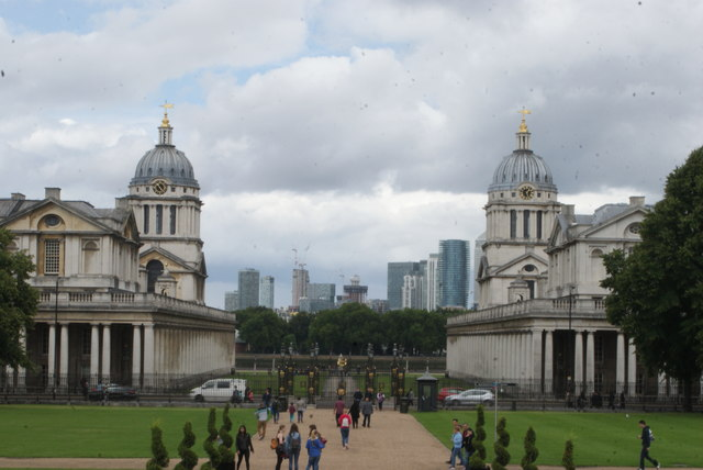 View of Canary Wharf from Queen's House #2