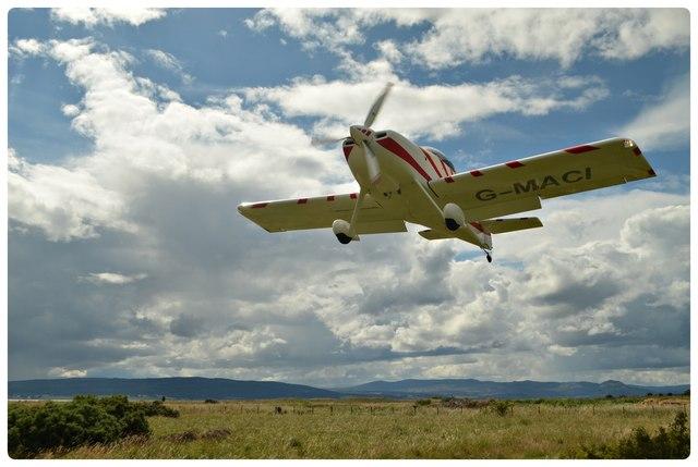 Vans RV-7 Aircraft Landing at Dornoch, Scotland