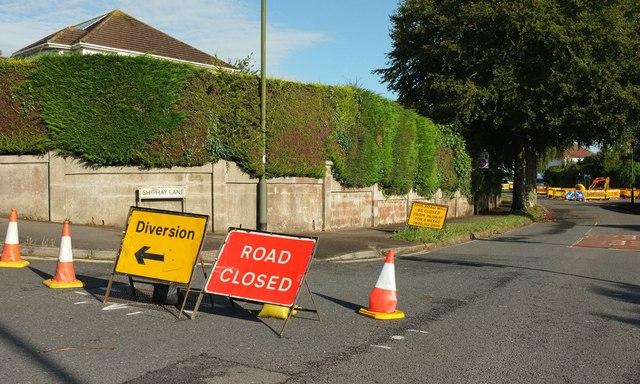 Shiphay Lane closed