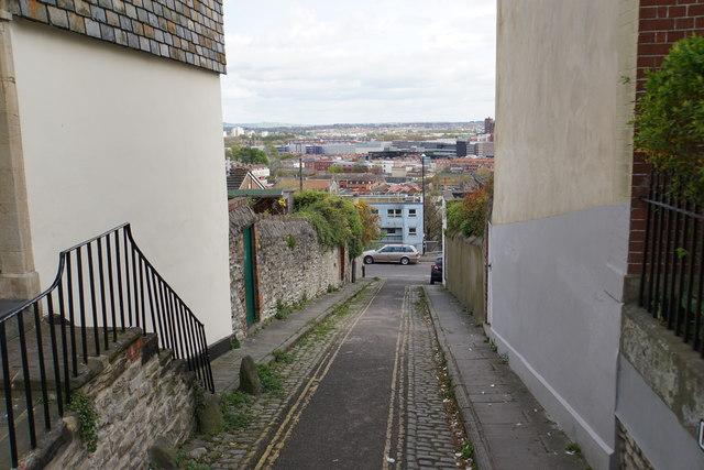 Narrow street in Kingsdown