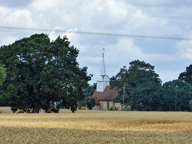 A glimpse of Hawkwell church