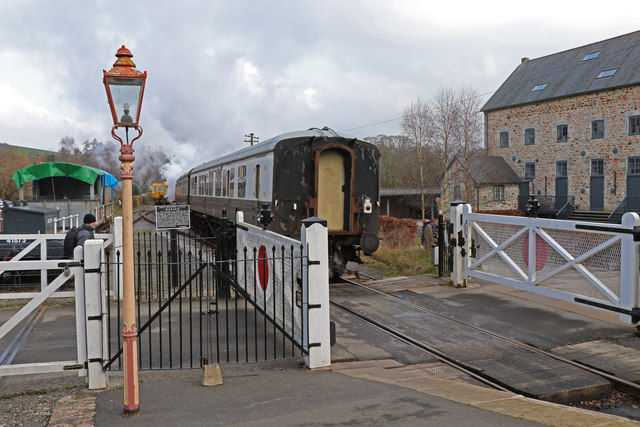 Staverton - the train departed