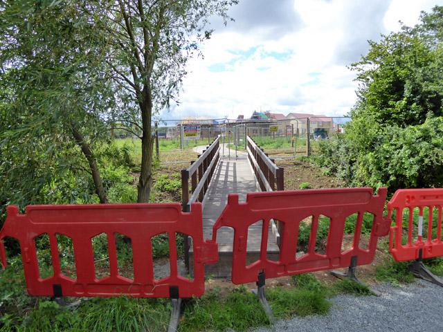 New footbridge, not yet open