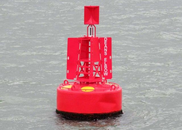Deans Elbow marker buoy near Hythe