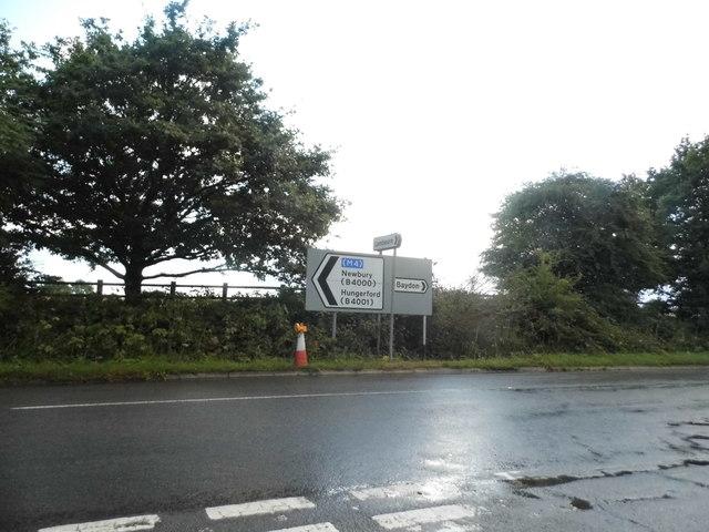 Baydon Road at the corner of Ermin Street