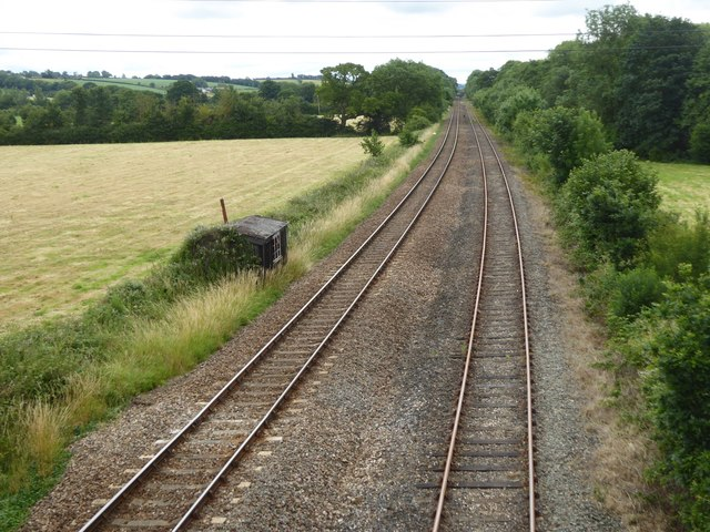 Railway line at Gunstone Mill, part of Tarka Line