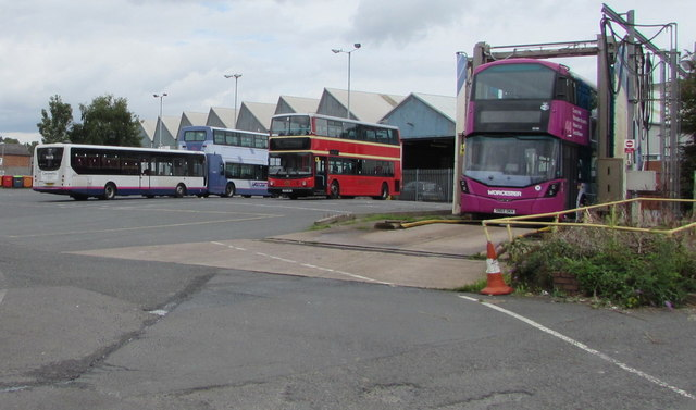 Worcester Bus Depot yard