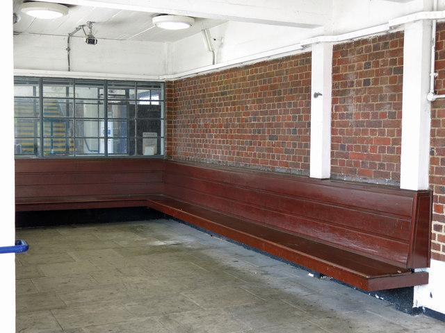 Sudbury Town tube station - waiting area