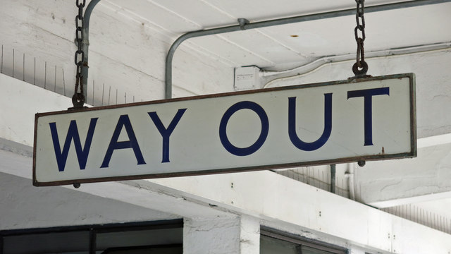 Sudbury Town tube station - sign