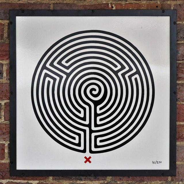 Sudbury Town tube station - Labyrinth 16