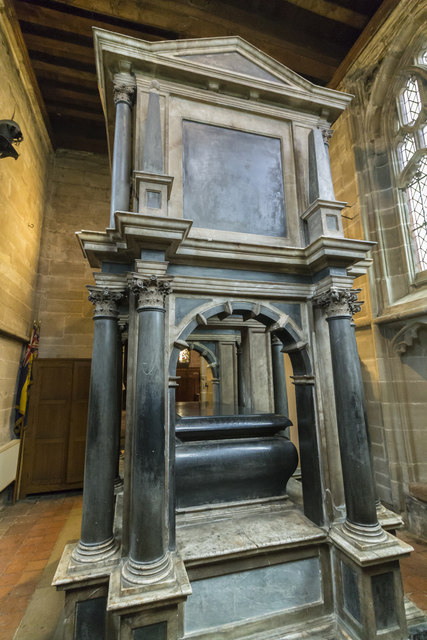 Monument, Chapter House, St Mary's church, Warwick
