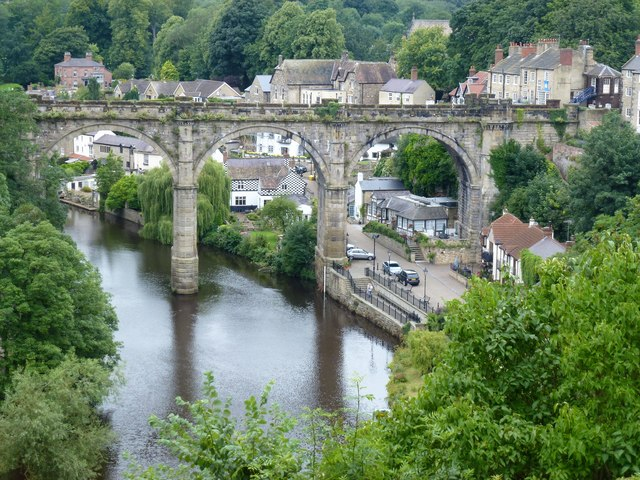 The River Nidd and viaduct in Knaresborough