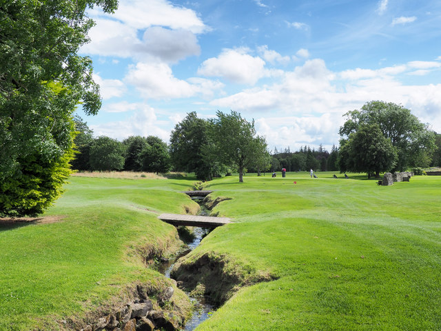Minor stream crossing golf course