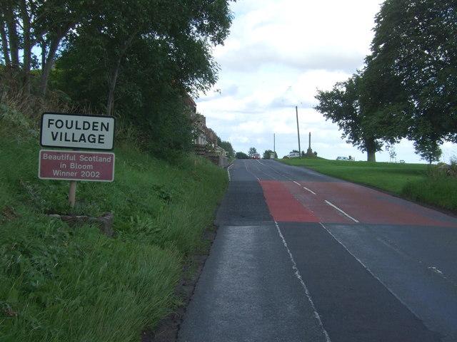 Entering Foulden Village