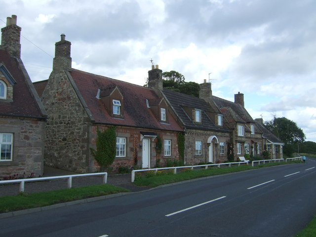 Houses on the A6105, Foulden