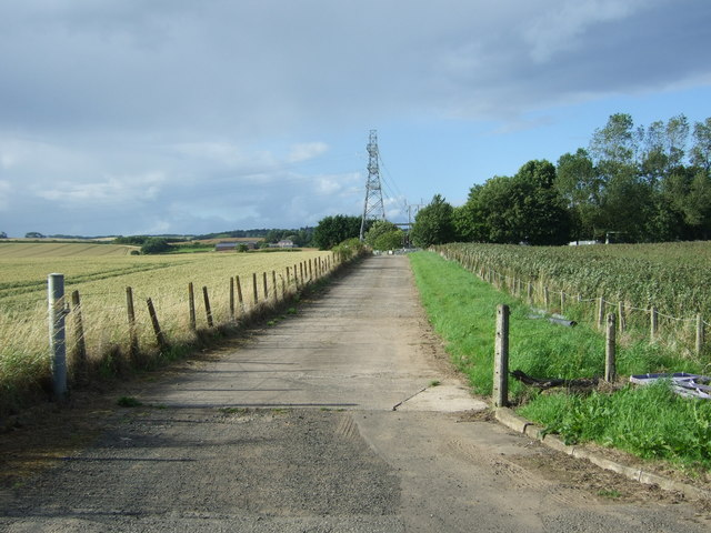 Road towards electricity sub station