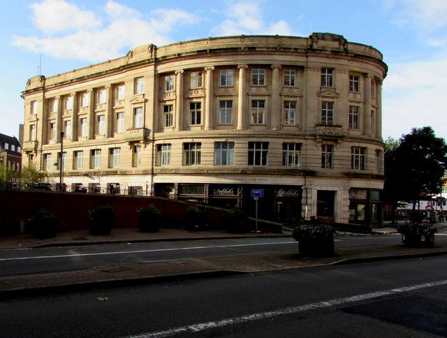 Grade II listed building opposite Newport railway station
