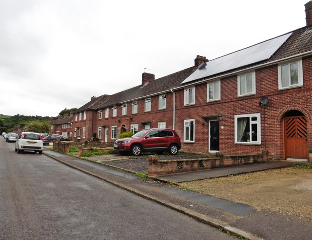 Terraced housing on Exeter Road