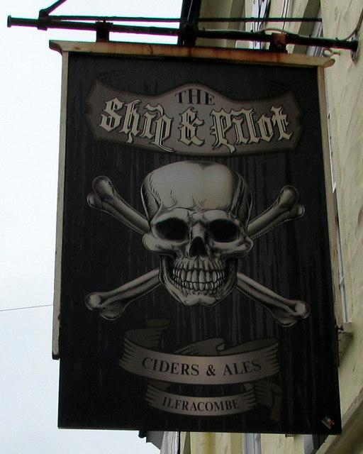 Ship & Pilot name sign, Ilfracombe