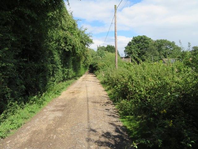 Access track & bridleway