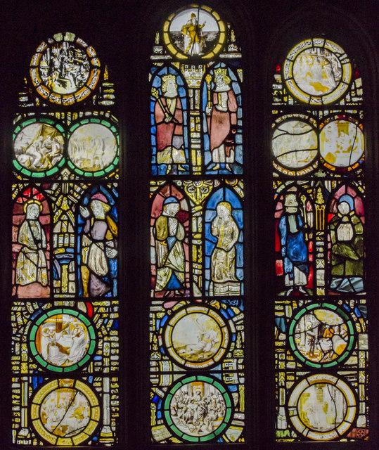 Vestry east window, St Mary's church, Warwick
