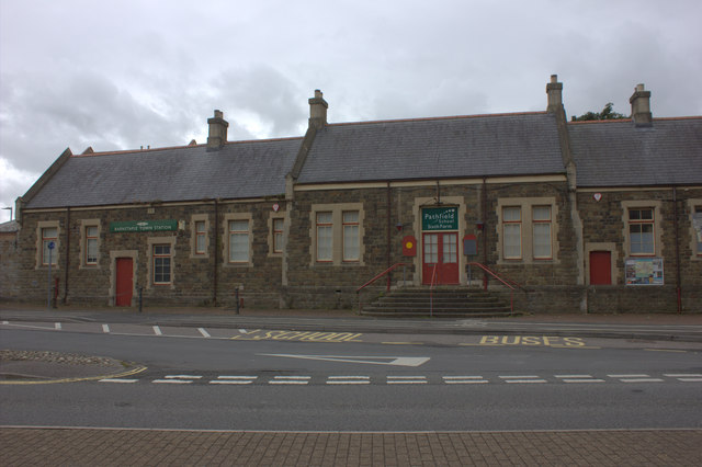 Barnstaple Town station, now a school.