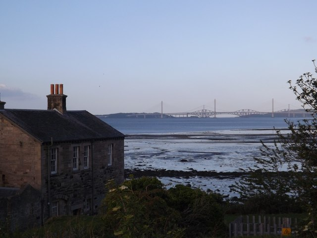 View to the Forth Bridges from Blackness Castle